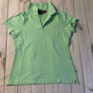 Vineyard Vines Susie Fit Polo Shirt Mint Green S